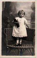 054 Child (Boobook48) Tags: studio child teddy postcard australia victoria realphotopostcard yeomanco