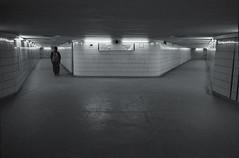 underground [analog] (__J) Tags: blackandwhite bw berlin film analog germany dark underground subway blackwhite iso400 tunnel scan u ubahn sw analogue ilfordxp2super canonae1 ilfordxp2 schwarzweiss ilford dunkel tempelhof unterführung canonfd 2013 paradestrase bahnubahnhofu6