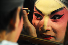 Chinese Opera face Made-up  (Melinda ^..^) Tags: male colors opera chinese culture mel melinda macau madeup      chanmelmel operaface