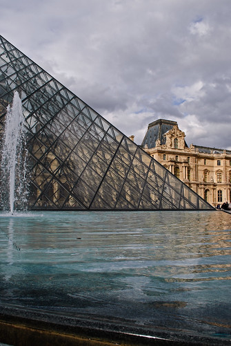 Louvre across the Fountain