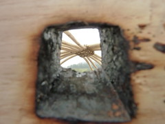 "Yurt Wheel Burn hole • <a style=""font-size:0.8em;"" href=""http://www.flickr.com/photos/61957374@N08/8593677118/"" target=""_blank"">View on Flickr</a>"