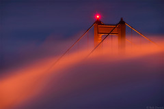 Beacon (Rob Dweck) Tags: sanfrancisco california longexposure fog marin goldengatebridge marinheadlands goldengatenationalrecreationarea slackerhill