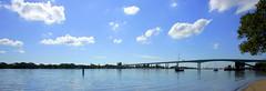 pan01DI7673 (Lox Pix) Tags: bridge building bird architecture river boat cityscape australia brisbane catamaran queensland rivercat loxpix flowers ferry clouds yacht smoke tug trawler loxwerx l0xpix