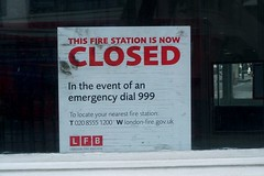 Closure (My photos live here) Tags: street city england urban london station sign fire town closed camden capital north mount pleasant 999