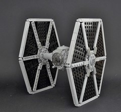 TIE fighter (1) (Inthert) Tags: lego ship empire pilot moc star wars solar panel twin ion engine tie fighter imperial