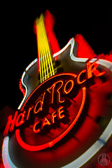 Hard Rock CAFE. (taga928s4(Akira.T_JPN)) Tags: hard rock cafe roppongi tokyo japan lensbaby sweet35 hardrockcafe       night gibson    guiter neon