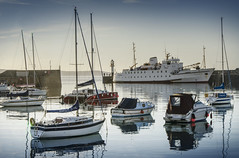 Penzance Harbour, Cornwall (DM Allan) Tags: scillonian penzance scillyisles scilly summer morning harbour boats cornwall penwith