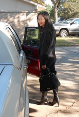 Going out (Foxywalk) Tags: asian black boots chinese heel lady leather overtheknee patent portrait thighhigh      kneehigh