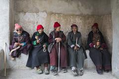 At Lamayuru (Ravikanth K) Tags: 500px old ladies women people sitting resting monastery lamayuru gompa place worship prayers sticks walkingsticks costume locals ladakh
