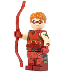 Crimson Archer - Custom UV Printed LEGO Minifigure! (X39BrickCustoms .com) Tags: lego custom printed legos archer crimson uv printing bow arrow red