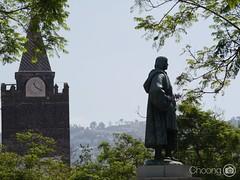 Hello Funchal! (choong mun) Tags: clock cloud green building trees summer outdoor nature 100300mmlumix panasoniclumixg7