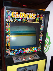 Clowns (scottamus) Tags: classic arcade video game cabinet art artwork design graphics bezel marquee controls clowns midway 1978