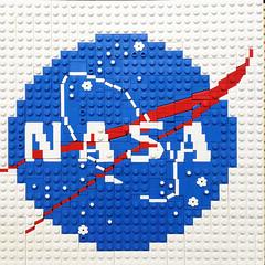 LEGO Nasa Logo Closeup 1 (Model Gal) Tags: lego hiddenfigures nasa legoart legomosaic engineer math minifigure minifig
