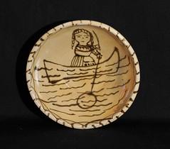 Tzintzuntzan Pottery Bowl Mexico (Teyacapan) Tags: pottery mexican tzintzuntzan michoacan womanfishing bowl cuenca mexico folkart crafts artesanias