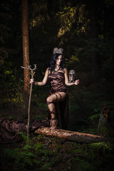 Galya (Daniel Kasyanenka) Tags: girl portraits woman female forest beauty beautiful trees sun magic