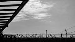 Landsberger Allee (A_Peach) Tags: landsbergerallee berlin bw blackwhite sw schwarzweiss street bridge panasoniclumixg5 olympusf1845mm