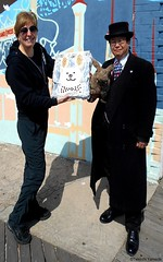 Dr. Takeshi Yamada and Seara (Coney Island Sea Rabbit) visited the Coney Island Polar Bear Club at the Coney Island Beach in Brooklyn, New York on March 27 (Sun), 2016. mermaid. merman. Happy Easter Bunny.   20160327SUN DSCN4689=1020pC1. Robbie Pope Baile (searabbits23) Tags: searabbit seara takeshiyamada  taxidermy roguetaxidermy mart strange cryptozoology uma ufo esp curiosities oddities globalwarming climategate dragon mermaid unicorn art artist alchemy entertainer performer famous sexy playboy bikini fashion vogue goth gothic vampire steampunk barrackobama billclinton billgates sideshow freakshow star king pop god angel celebrity genius amc immortalized tv immortalizer japanese asian mardigras tophat google yahoo bing aol cnn coneyisland brooklyn newyork leonardodavinci damienhirst jeffkoons takashimurakami vangogh pablopicasso salvadordali waltdisney donaldtrump hillaryclinton polarbearclub