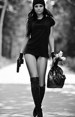 Gangster SEXY. (A Gun & A Girl.) Tags: guns girls muscles arms shootingguns hotguns gunshotwounds blood gettingshot sexygirls hotgirls girlsshootingguns girlsgettingshotwithaguns girlswithguns