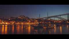 Before the Sunset (Jeke's Photos) Tags: porto portugal travel river douro ponteluis night long exposure canon canonef1635f28 canoneos5dmarkiii jeke