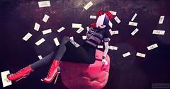 cheap thrills (claudia.rosier) Tags: blog secondlife sia music black red portrait fashion