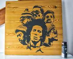 Burnin' (WⒶlden) Tags: stencil pochoir plantilla schablonen streetart design sansalvario wⓐlden bobmarley thewailers petertosh music reggae