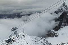 View from Rifugio Torino (3375 m) (matteo_luzzi) Tags: monte bianco dent geant glacier snow ice clouds cablecar