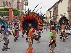 Indigineous Dancers (OSChris) Tags: sanmigueldeallende guanajuato mexico dancers sanmiguel indigenous
