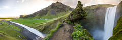What a View... (Fabian Fortmann) Tags: skógafoss iceland island camping panorama view perspective waterfall river water green nature