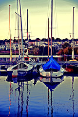 Boote/ boats (CreactCult) Tags: boot see blau spiegelung himmel boat sea blue reflections heaven nikon d5300