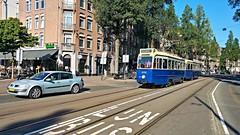 Oud Zeer (Peter ( phonepics only) Eijkman) Tags: amsterdam city ema gvb vintage museummaterieel museumstel drieasser tram transport trams tramtracks rail rails reflectionsofthepast strassenbahn streetcars nederland netherlands nederlandse noordholland holland