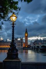 Twilight Time (NoVice87) Tags: london thames river westminster bridge bigben clock bluehour twilight clouds lowlight