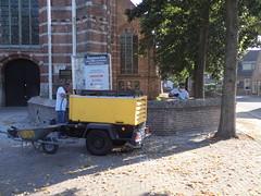 P9134696 (Hervormd-Sprang.nl) Tags: restauratie kerk muur voeg schoonmaken