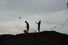 The kite flyers (sanat_das) Tags: kolkata d800 silhouette 28300mm patuli boys kites