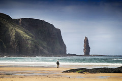 The Sandwood herdsman (OutdoorMonkey) Tags: sutherland scotland sandwoodbay ambuachaille herdsman shepherd beach coast coastal sea seaside seashore marine cliff seastack stack geology scenery
