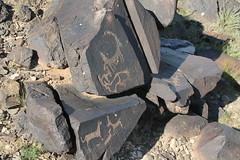 Khavtsagait - Petroglyphs (plutogno) Tags: petroglyph mongolia gobi desert rock carving wolf