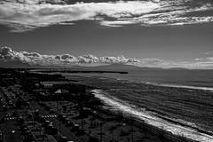 Out of the window.... (gioturco) Tags: blackandwhite bn bw biancoenero monocromatico monochrome landscape panorama mare spiaggia sole salerno marmediterraneo