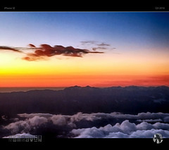Sunrise Kaikouras (tomraven) Tags: sunrise kaikourarange mountains flight clouds sky sun dawn aravenimage tomraven airplane pilatusp12 q32016 iphone se
