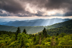 North Carolina Blue Ridge Parkway Scenic Mountain Landscape (Dave Allen Photography) Tags: northcarolina appalachians lightrays nc asheville scenic landscape mountains sunbeams rays ridges blueridgeparkway greatsmokymountains outdoor photography nature summer cherokee nationalpark