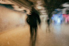 Under and Beyond (Fuji and I) Tags: abstract motion blur movement underground tube metro colour texture alexarnaoudov fujix london people street
