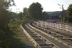 Erst wenn die Strae seitlich der Trambahntrasse fertiggestellt ist, wird der Bereich zwischen den Schienen mit Erde verfllt (Frederik Buchleitner) Tags: baustelle bergamlaim haidhausen linie25 mvg munich mnchen neubaustrecke steinhausen strasenbahn streetcar tram trambahn
