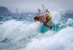 Ride to Freedom (TONY F WHITE) Tags: woman beach water sport surf waves australia surfing qld snapperrocks 100300mm canoneos7d
