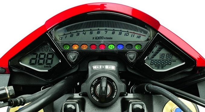 Painel da Honda CB 1000R