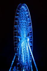 Lisebergshjulet (Peddan Foto) Tags: park blue wheel night gteborg lights amusement big nikon long exposure sweden gothenburg ferris swedish liseberg attraction d7000