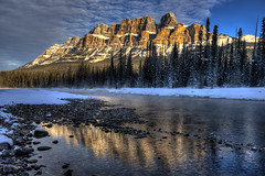 (kilr_pics) Tags: snow cold reflection ice bowriver castlemountain banffnp daarklands kurtpeiserexcellence