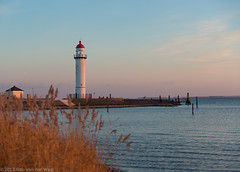 Lighthouse in the dusk (robvanderwaal) Tags: lighthouse netherlands twilight dusk nederland haringvliet hellevoetsluis vuurtoren schemering 2013 zuidfront rvdwaal robvanderwaalfotografienl