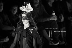"""Fashion, Glamour And Glory"" (Marcus Blank Photography) Tags: bw berlin hat fashion photoshop canon eos design glamour dress mask designer availablelight glory capital lifestyle 7d week sw runway ef lense 135mm lightroom fashionweek f20 aperturepriority redring schwarzweis mercedesbenzfashionweek primelense marcusblankphotography fashionweek2013"