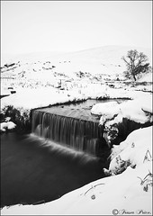 Snow (Fraser.Price) Tags: winter light bw white mountain snow plant mountains cold tree nature water river landscape outdoors scotland blackwhite nikon rocks hills d700