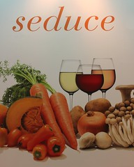 SEDUCE me .... with fresh vegetables & good wine ..... (Prayitno / Thank you for (12 millions +) view) Tags: las vegas restaurant hotel nevada ad casino resort advertisement nv aria seduce konomark