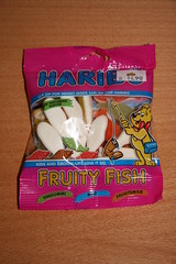 Haribo Fruity Fish (Like_the_Grand_Canyon) Tags: norway norge europe candy wine sweet january norwegen norwegian bergen gummy norsk weingummi 2013 norwegisch