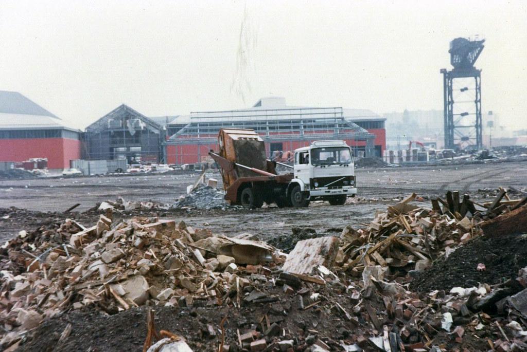 Old Queens Dock site at Finnieston 1980s